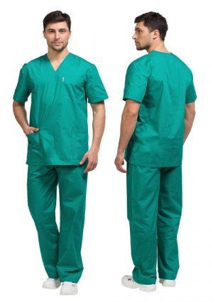 Мужской комплект медицинской одежды универсальный