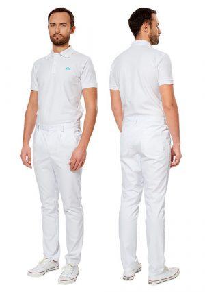 Брюки мужские к медицинскому халату или блузе LL3202 белые
