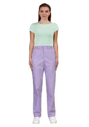 Женские медицинские брюки LL3101 сиреневые