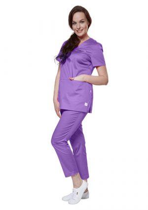 Стильные женские брюки-капри для медика LF3104