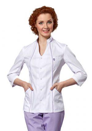 Элегантная женская блуза для врача LL2101