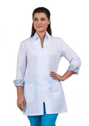 """Удлинённая женская блуза для медперсонала """"Далия"""""""