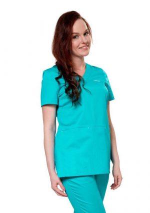 Яркая удлиненная блуза LF2105 для женщин медиков