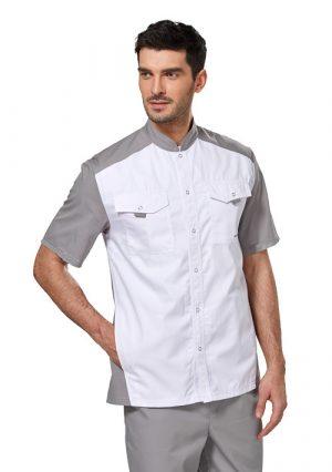 Строгая мужская блуза LL2201 для медика. Размер 44