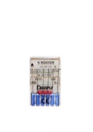 Инструмент эндодонтический ручной K-Reamer №25. Комплект из 6 шт.