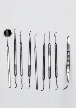 Набор стоматологический для пломбирования зубов. 9 предметов