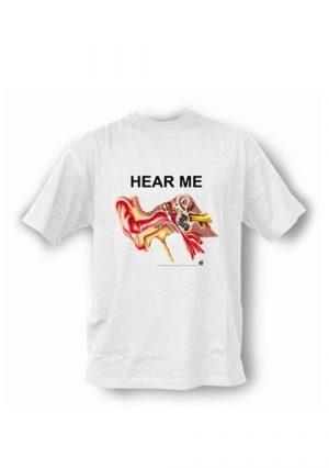 Анатомическая футболка с изображением уха. Подарок студенту медицинского колледжа и вуза. Слушай меня