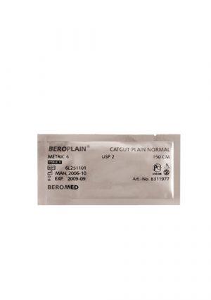 Кетгут Beroplain с атравматической иглойUSP 3/0 с иглой 20 мм, 1/2 окр. Длина 75 см