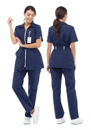 """Комплект из блузы и брюк для медика """"Фиеста"""""""