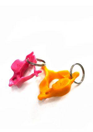 """Брелок для ключей """"Позвонки"""" в натуральную величину, разноцветные"""
