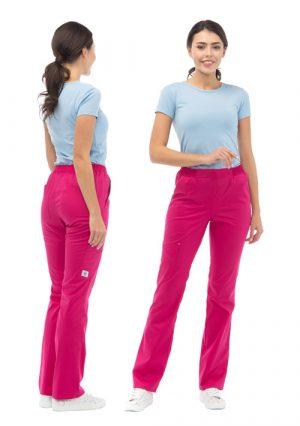 "Яркие женские медицинские брюки LF3106 ""Маджента"""