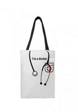 Яркая сумка-шоппер I'm Doctor